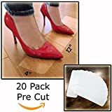 """StepStrips StepTips Anti Slip Tape """"Stair Treads"""" Clear / Transparents for Safety Non Slip Grip 20 Pack 4"""" x 12"""" Pre Cut Skid Strips Traction Non Abrasive PVC FREE for Bare Feet Kids, Elders & Dogs"""