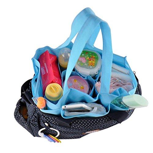 Portátil bolsa de fieltro bolsa interior organizador bebé cambiador momia bolso de mano bolsa de hombro tote azul azul azul