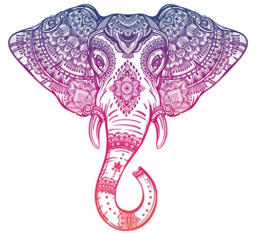 elephant car decal - 1