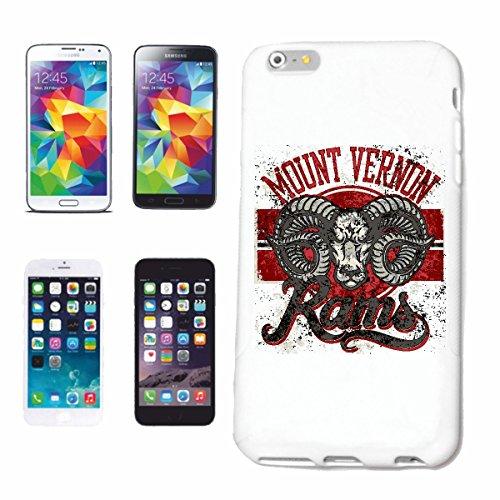 "cas de téléphone iPhone 7+ Plus ""MOUNT VERNON RAMS BUFFALO EAU BUFFALO DODGE RAM VERNON BUFFALO WILD RIDING ANIMALE"" Hard Case Cover Téléphone Covers Smart Cover pour Apple iPhone en blanc"