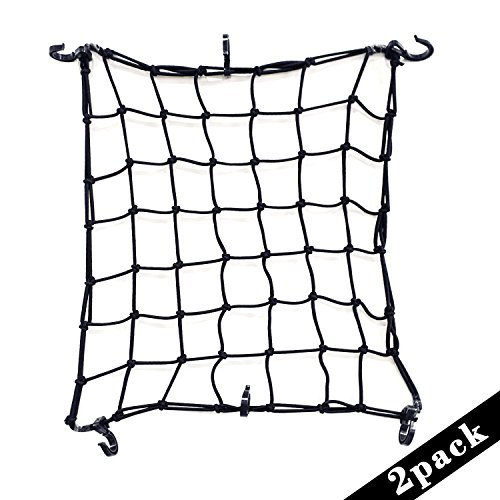 2-pack-of-black-15x15-cargo-net-featuring-6-adjustable-hooks-tight-2x2-mesh
