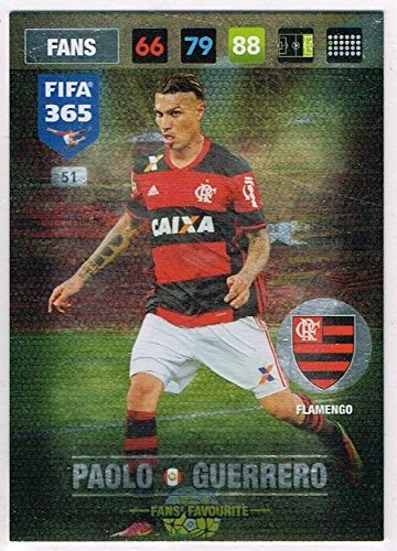 Amazon.com: Panini FIFA 365 Adrenalyn XL 2017 Paolo Guerrero ...