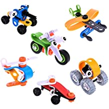 109 PCs STEM Toys for Boys, Building Toys with 6 Model Cars Kits, Take Apart Toys with Tools, Engineering Building Blocks Toy Set, Goodie Bag Fillers, Pinata Stuffers & Prizes for Kids