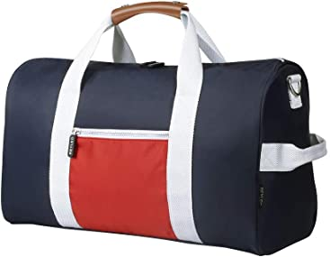 c2e0bf5341 REYLEO Sports Gym Bag Small Travel Duffel Bag Water Resistant Bags with  Leather Handle Color Blocking