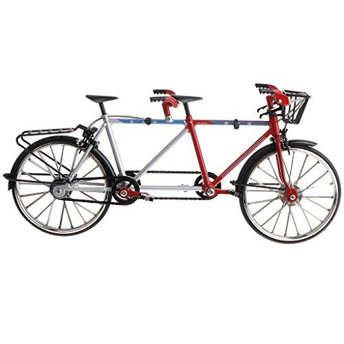 ature Tandem Bike Cycling Toy Velodrome Diecast Vehicle Model Playset Birthday Gift - Black ()