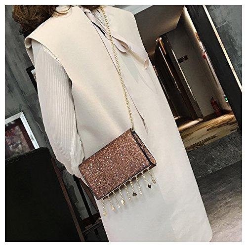 2018 Borse Lightred Tracolla Ragazza Novità Uomo Bag Confezione Borsa Coreano Catena Da Paillettes Mini Spalla A Primavera Moda rRnqxHCr