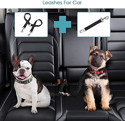 SlowTon Dog Dog Doble cinturón de Seguridad con Correa, sin enredo ...