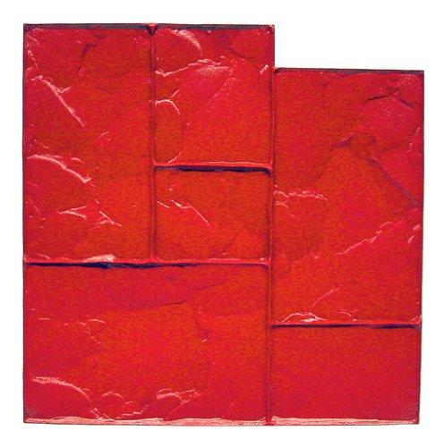 BonWay 12-875 24-Inch by 24-Inch Ashlar Cut Stone Urethane Floppy Mat, Red