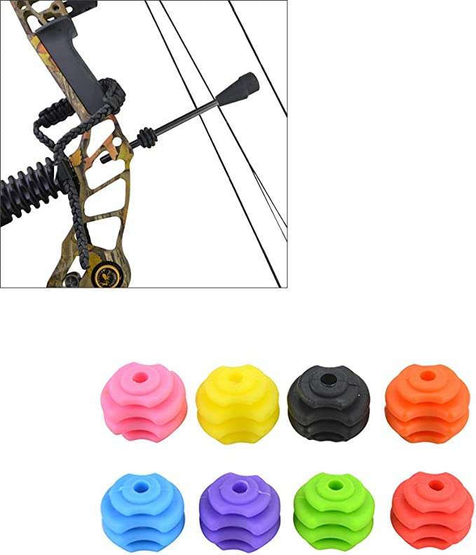 2* Compound Bow String Stabilizer Tail Rubber Archery Damper Stabilizer Silencer