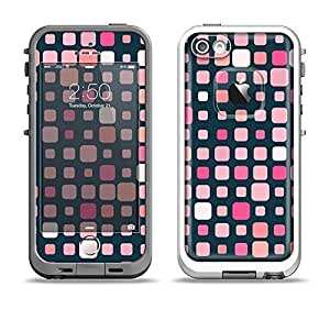 The Scattered Pink Squared-Polka Dots Skin Set for the Apple iPhone 5-5s LifeProof Fre Case (Skin Only)
