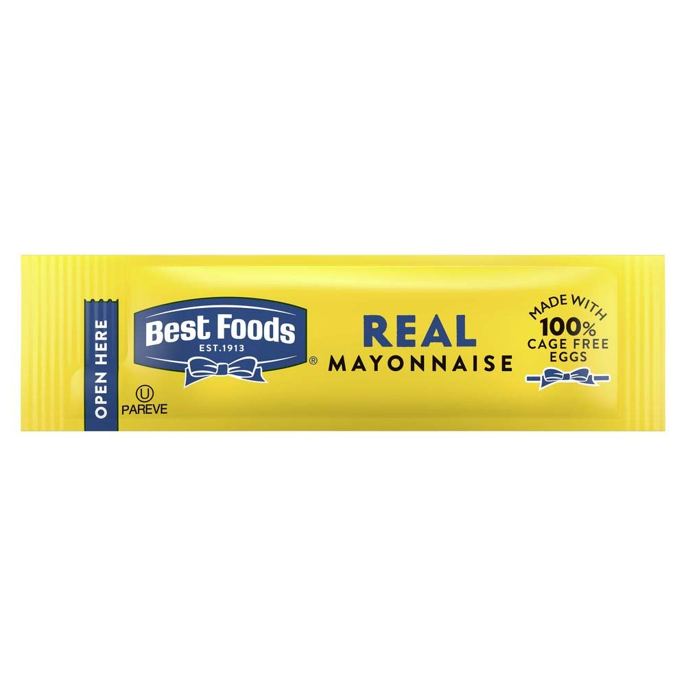 Best Foods Real Mayonnaise Stick Packets Easy Open, Made with 100% Cage Free Eggs, Gluten Free, 0.38 oz, Pack of 210