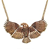 Zinc Alloy Delicate Golden Hawk Eagle Necklace 21 Inches