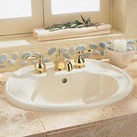 White American Standard 0186.803.020 Savona Self-Rimming Countertop Sink with 8-Inch Faucet Spacing