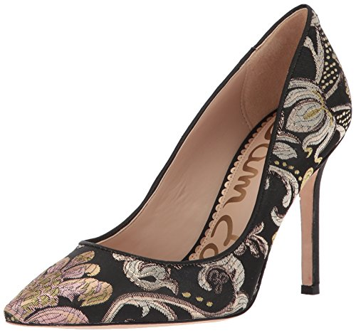 Sam Edelman Women's Hazel Pump, Black/Multi Venezia Metallic Jacquard, 8.5 Medium US