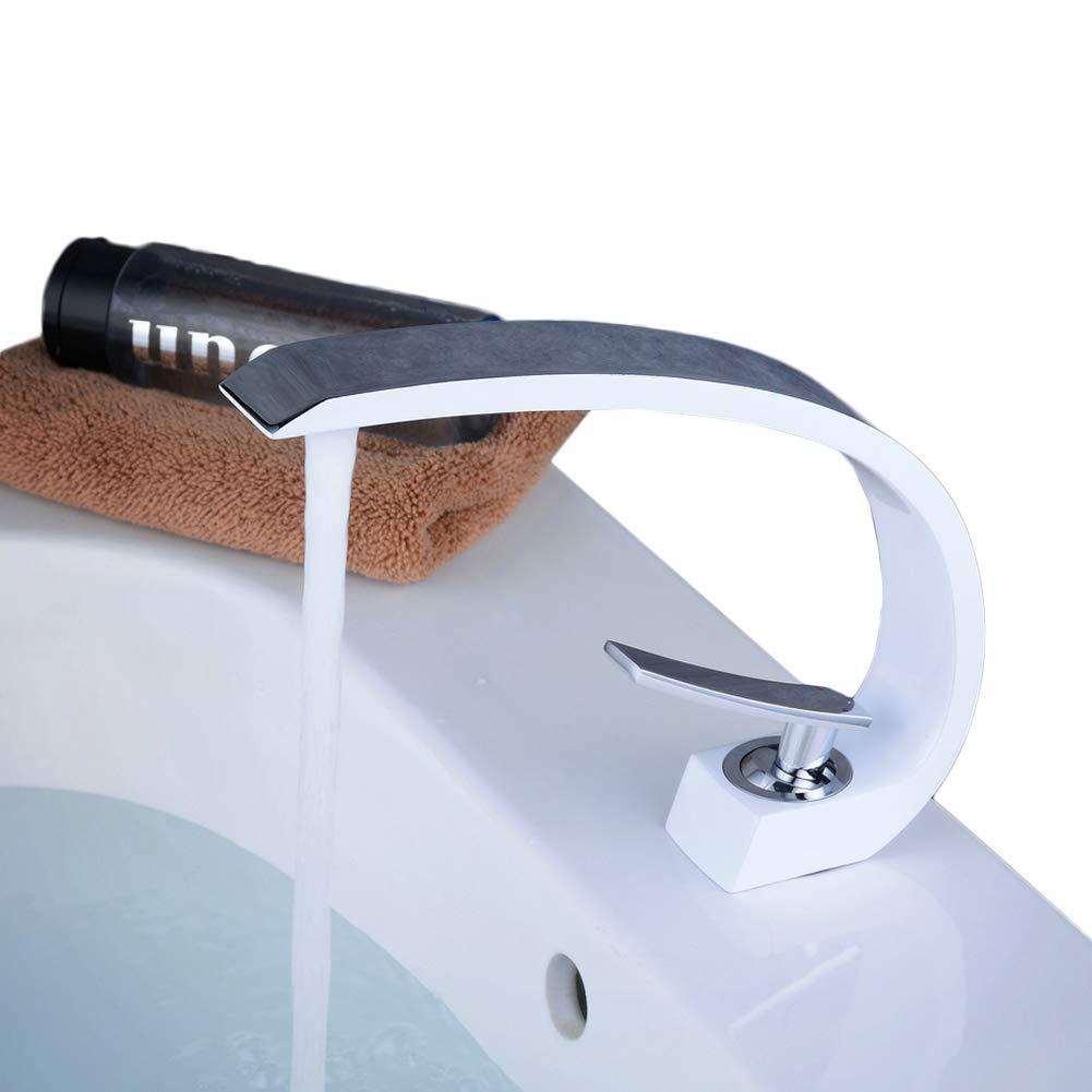 Grifo monomando para lavabo blanco con grifo para lavabo