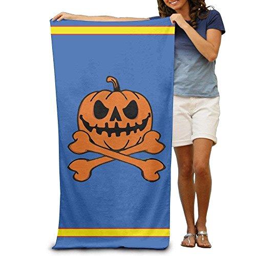 NOAID Halloween Pumpkin Skeleton Adults Cotton Beach Towel 31 X 51-Inch