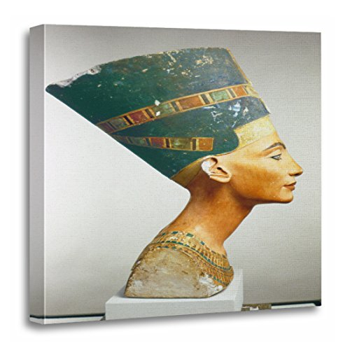 TORASS Canvas Wall Art Print Fine Bust of Queen Nefertiti Side View from The Egyptian Artwork for Home Decor 20