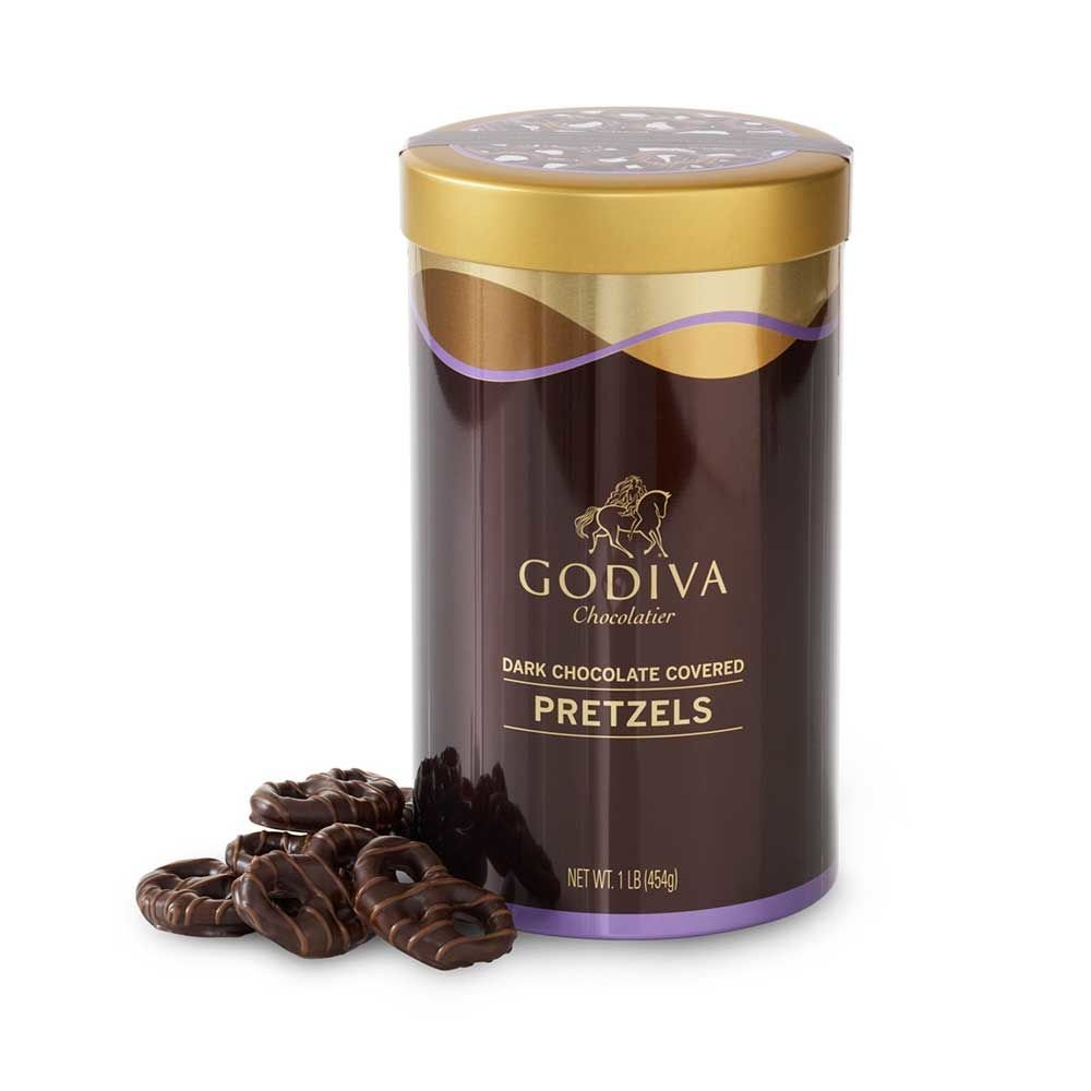 Amazon.com : Godiva Chocolatier Dark Chocolate Covered Pretzels ...