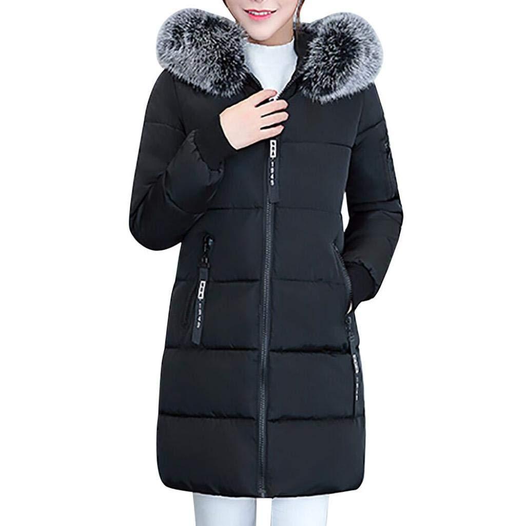 Pandaie Jacket,Womens Winter Jacket Warm Overcoat Slim Thicker Long Coat Parka Lammy Outwear