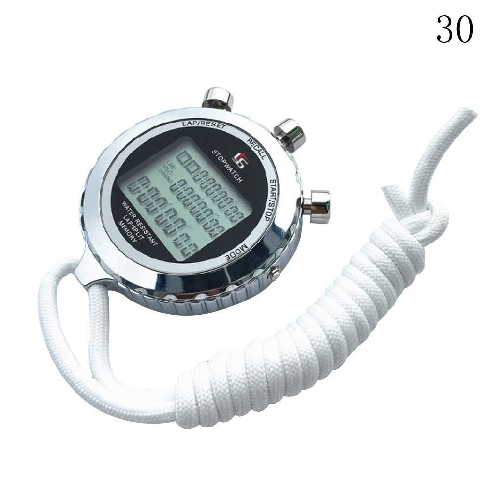 gran pantalla con alarma de memoria VOVOL precisi/ón 1//100 s Cron/ómetro digital con cron/ógrafo y temporizador de cron/ómetro digital silencioso color 10. temporizador de cuenta atr/ás