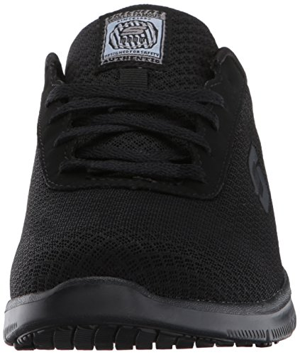 Skechers for Work Women's Ghenter Bronaugh Work and Food Service Shoe 7.5W, BLACK, 7.5 W US