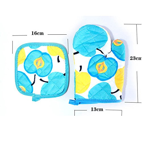 ️ Yu2d ❤️❤️ ️Cooking Cotton Microwave Oven Gloves Mitts Pot Pad Heat Proof Protected by ❤️ Yu2d ❤️_ Home & Kitchen (Image #6)