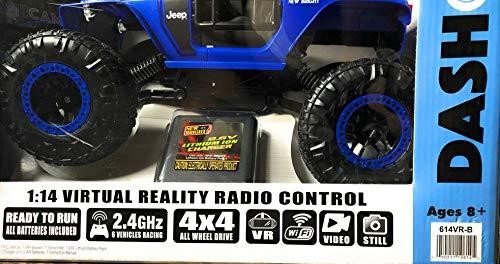 New Bright 614VR-B RC 1:14 Scale VR Dash Cam Rock Crawler Jeep Trailcat