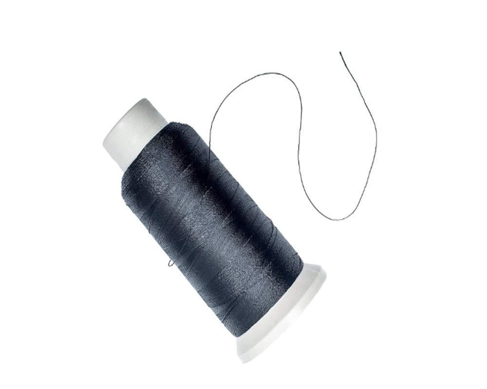 2PCS T70#69 Bonded Nylon Sewing Thread Auspicious firm White+Black 1500 Yard Spool