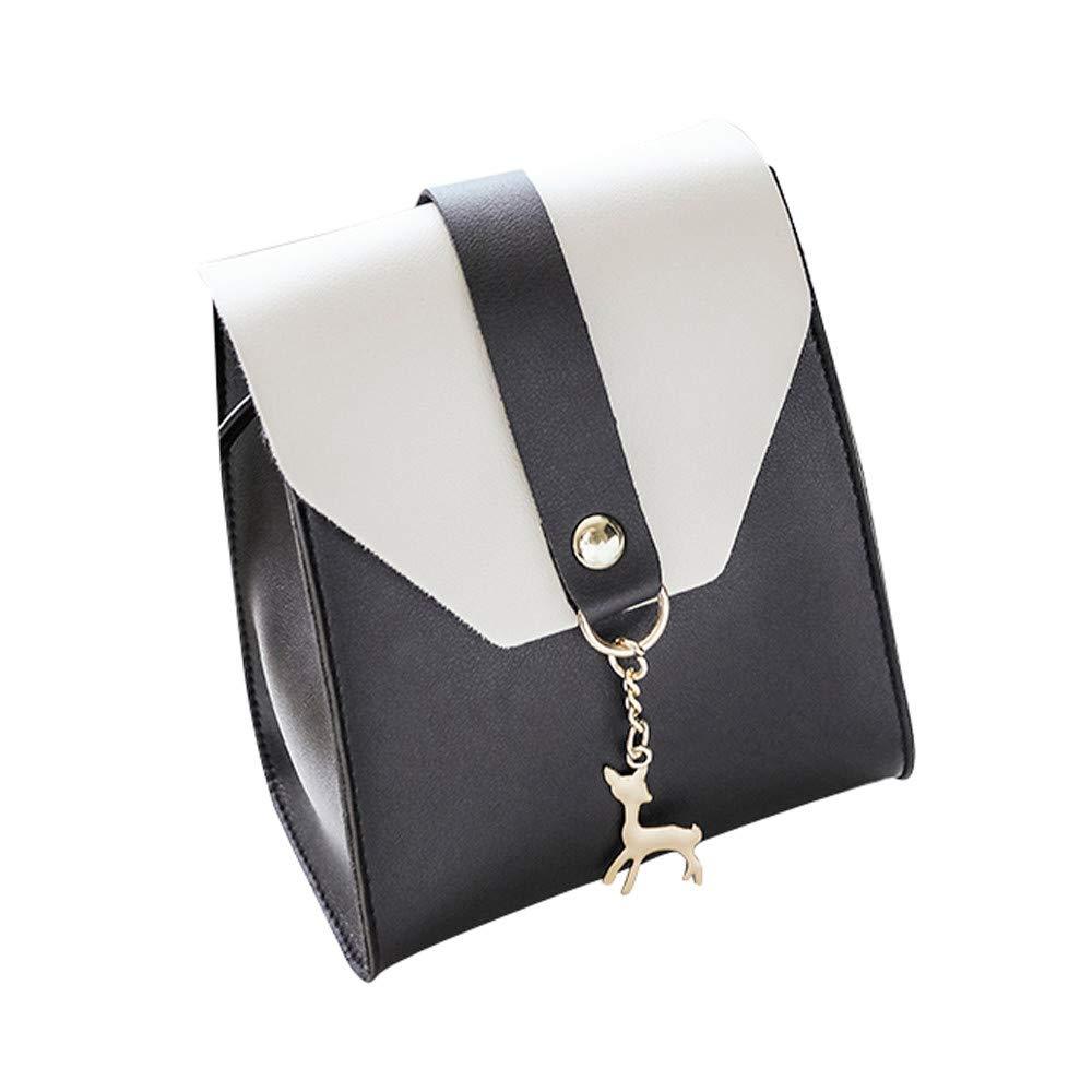 WugeshangmaoLeather Shoulder Bag for Women Deals,Women's Crossbody Bag Fashion,Teen Girls' Satchel Tote Phone Bag Black