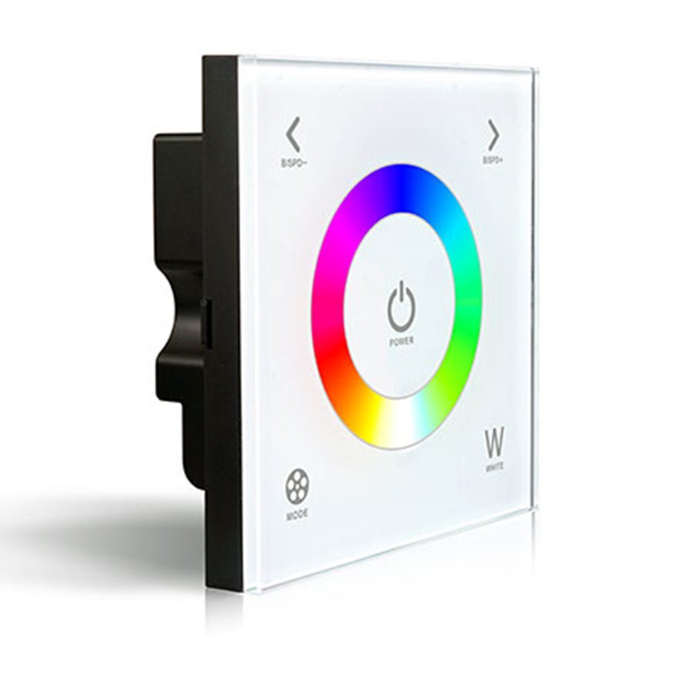 LTRGBW D2 Wall-mounted Touch Panel Color Temperature Changing Adjustable Dimmer Controller WW/CW Dual White LED Strip 12-24V 8A (5 Year Warranty)