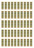 Beistle 88005-50 FR Serpentines Roll (paquete de 50), multicolor