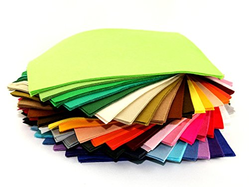 Assorted Colour A4 Craft Felt Fabric Pack Assorted - per pack of 10