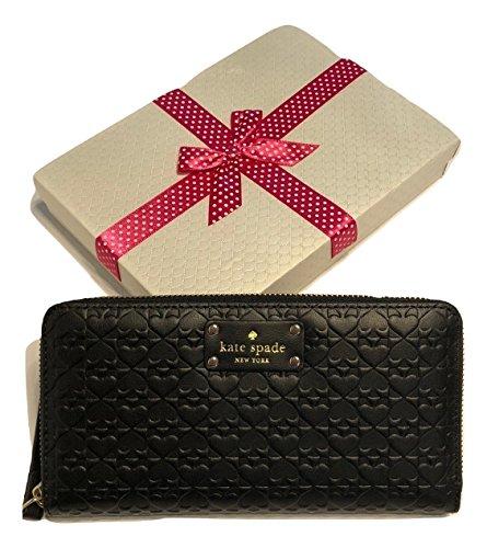 Wallet Black York Spade Embossed Kate WLRU2517 New Around Zip Penn Neda Place 4PnnzxEqwd