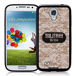 Cool Painting Military Wife 2 Camo - Protective Designer BLACK Case - Fits Samsung Galaxy S4 i9500