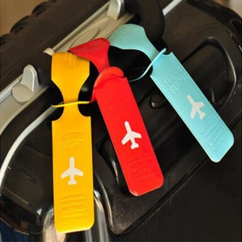 ANGELS--Suitcase Luggage Tags Name Address ID Address Holder Silicone Identifier Label Y