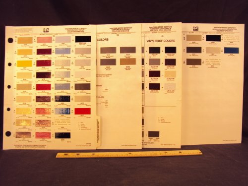 1990 90 FORD MOTOR COMPANY FORD, MERCURY, LINCOLN, Thunderbird Paint Colors Chip Page