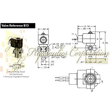 amazon com 7131tbn2lv00n0c222c2 parker skinner 3 way normally 7131tbn2lv00n0c222c2 parker skinner 3 way normally closed direct acting brass solenoid valve 24v dc