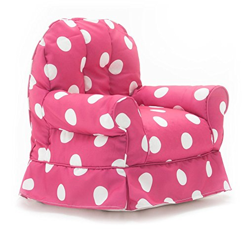 Shop For Hang Around Chairs. Choose Layout: Big Joe Babs Pink With White  Dot Gabardine