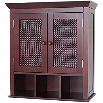 Amazon Com Stunning Espresso Bathroom Wall Cabinet Or