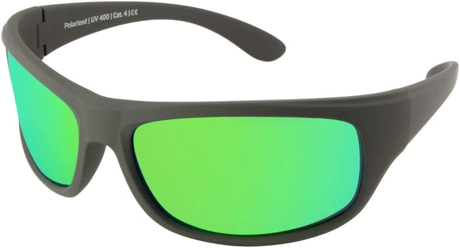 Gafas de sol polarizadas EREBOS | Cat. 4 especialmente oscuras | Protección UV 400 | Para sol extremo: montaña y mar | En caso de fotofobia | Gafas de sol deportivas para hombre y mujer | 24 gramos