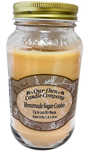 Homemade Scented Candles (Homemade Sugar Cookie Scented Mason Jar Candle by Our Own Candle Company, 18 Ounce)