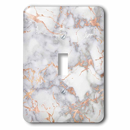 3dRose lsp_275080_1 Image of Luxury Trendy Rose Gold Glitter Marble Agate Mineral Quartz Toggle Switch, Mixed