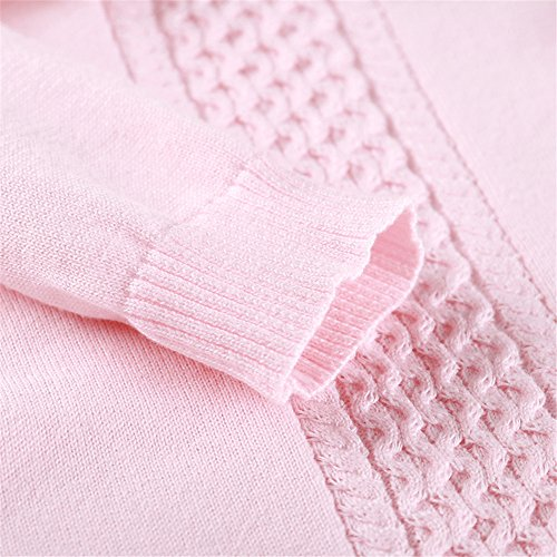 Auro Mesa Newborn Baby Clothes Infant Baby Pink Blue Knitting Romper Winter Infant Clothing (3-6M, Pink) by Auro Mesa (Image #5)