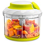 Gourmia GSC9285 Swift Chopper Pull String Manual Food Processor With 2 Mixing Blades, Durable BPA free food safe material
