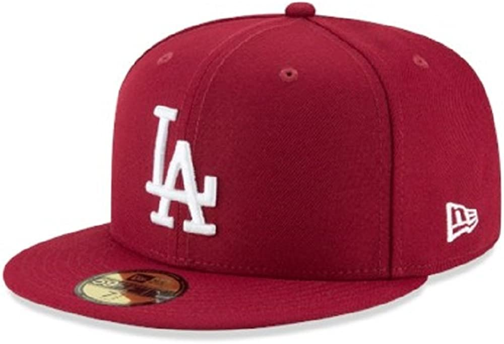 Max 67% OFF New Era Men's store MLB Los Angeles Hat Fitted Dodgers 59Fifty Basic