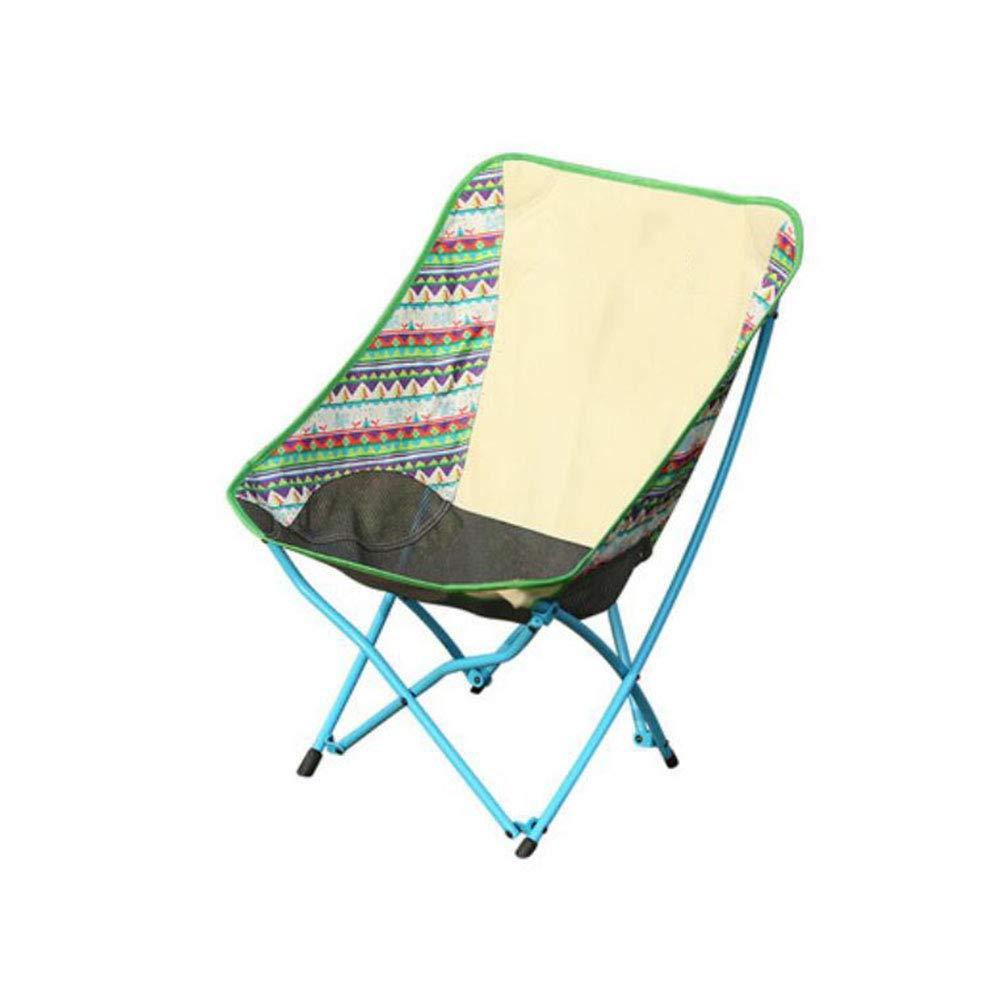 F & H FH Outdoor Klappstuhl Angeln Stuhl Camping Stuhl Tragbare Faule Strand Stuhl Mond Stuhl