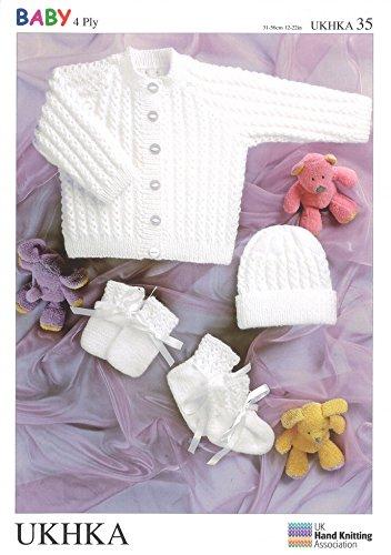 Uk Hand Knit Association Baby Knitting Pattern Ukhka35 By Uk Hand