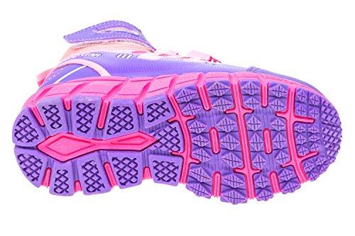 gibra - Zapatillas de sintético/textil para niño rosa/lila