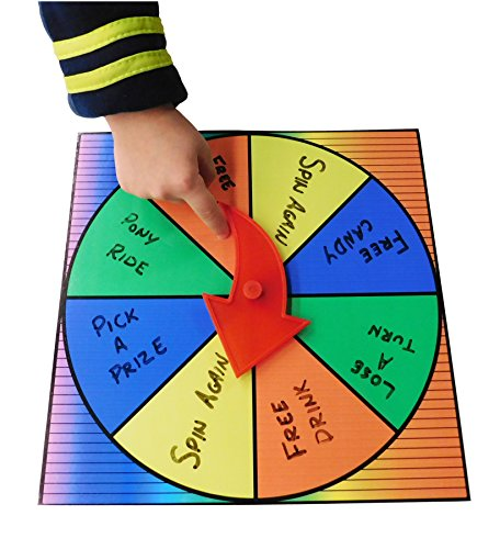 Prize Wheel Party Game Spinner Customize with Dry Erase or Washable Marker -