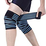 Compression Gear Weightlifting Knee Wraps Cross Training Elastic Breathable Compression Knee Leg Arm Ankle Elbow Support Wrap Bandage Brace Strap Weight Lifting Gym Workout, Powerlifting, Squats, 2pcs